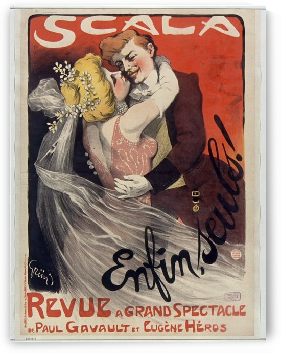 Scala Enfin seuls poster by VINTAGE POSTER