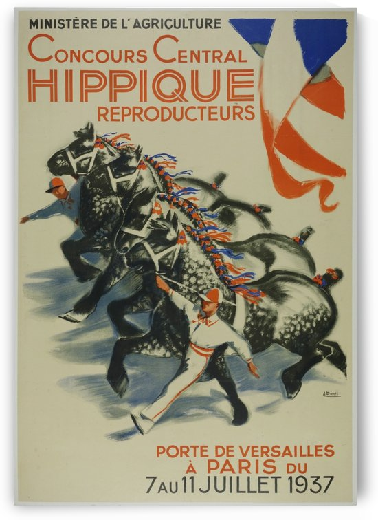 Concours Central Hippique Poster by VINTAGE POSTER