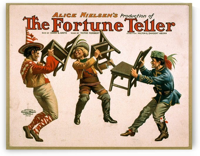 The Fortune Teller Vintage Theater Poster 1905 by VINTAGE POSTER