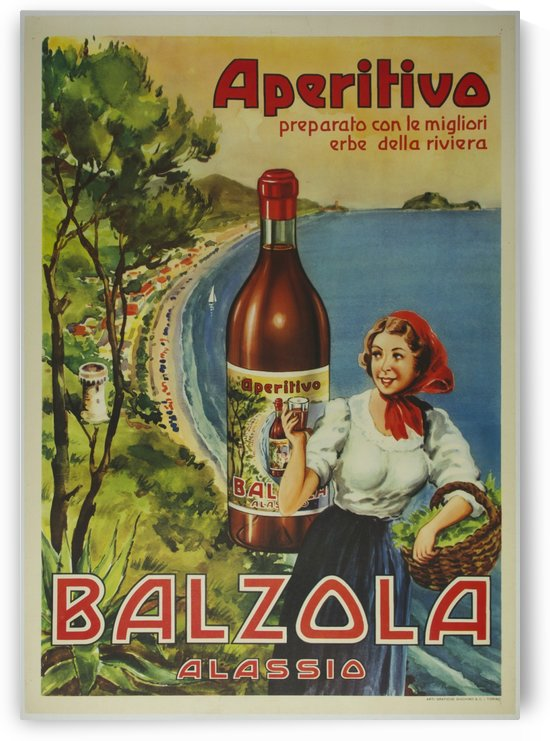 Aperitivo Balzola Original Poster by VINTAGE POSTER
