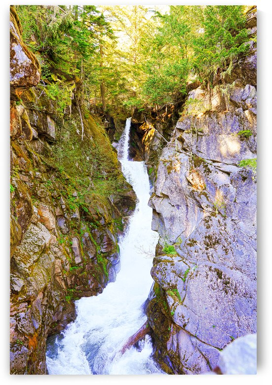 Christine Falls in the Sunlight Mount Rainier  - Waterfall Pacific Northwest USA  by 24