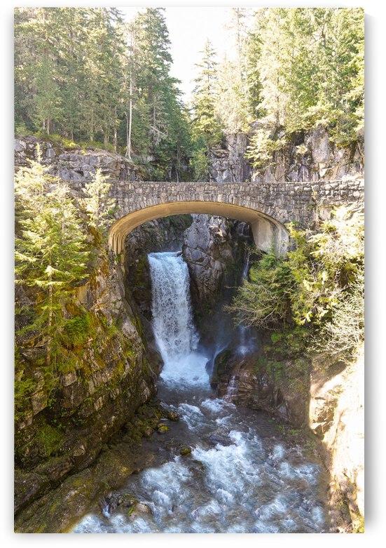Christine Falls Mount Rainier Pacific Northwest Washington - Waterfall  by 360 Studios