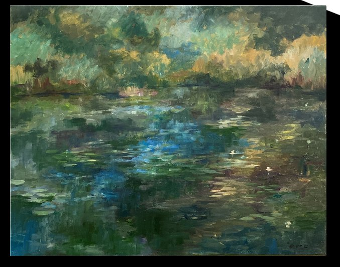 Water lily pond by Cene