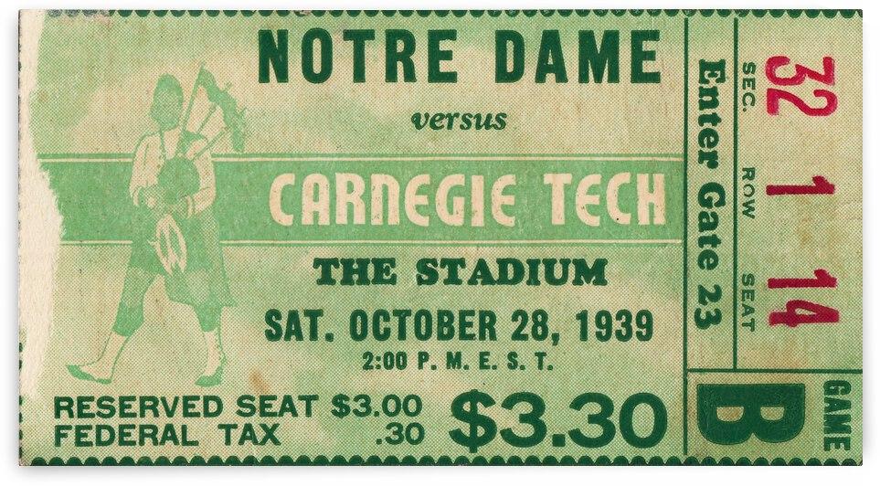 1939 Notre Dame vs. Carnegie Tech by Row One Brand