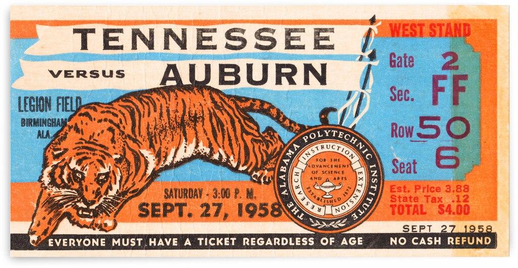 1958 Auburn Tigers vs. Tennessee Vols by Row One Brand
