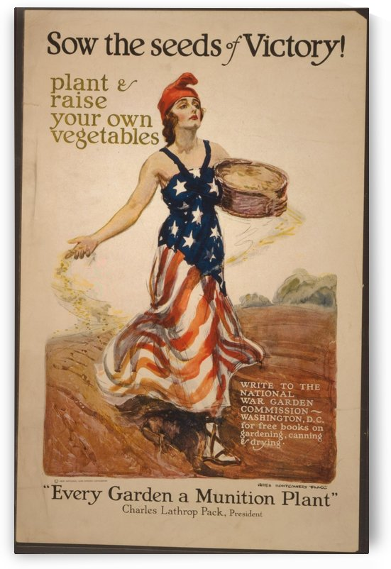 Sow the seeds of victory by VINTAGE POSTER