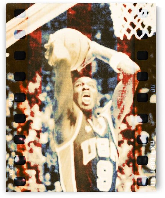 1984 Michael Jordan USA Olympic Basketball Team Art by Row One Brand