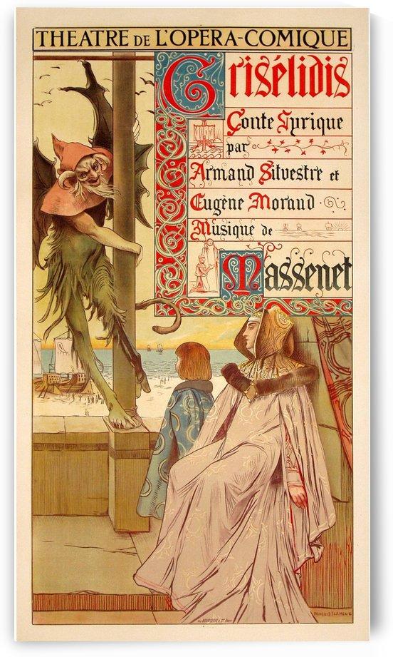 Theatre de Opera Comqique Griselidis Poster by VINTAGE POSTER
