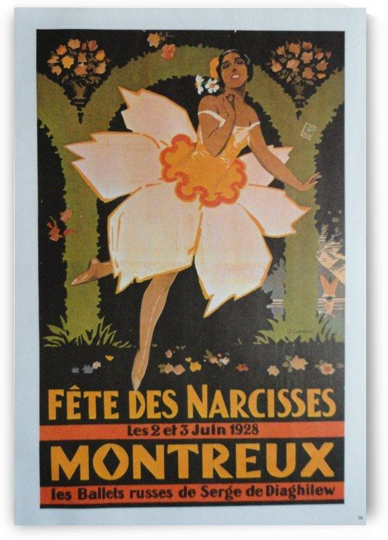 Vintage Dance Poster Fete Des Narcisses by VINTAGE POSTER