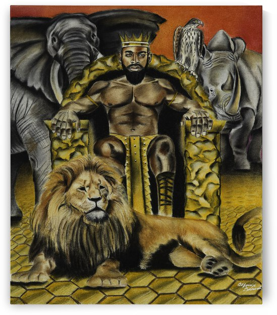 200.016 African King by SKETCHED PERFECT DESIGNS LLC