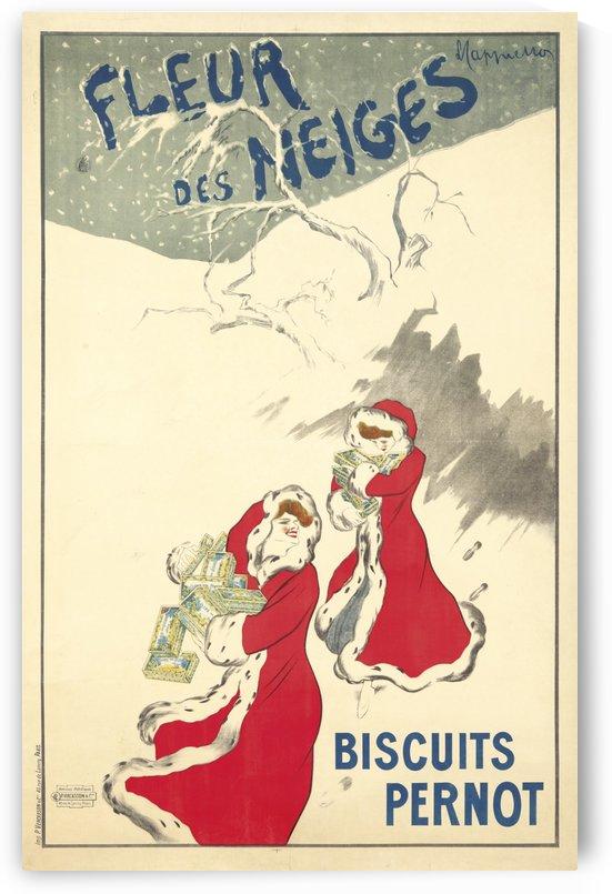Fleur des Neiges Biscuits Pernot Poster by VINTAGE POSTER