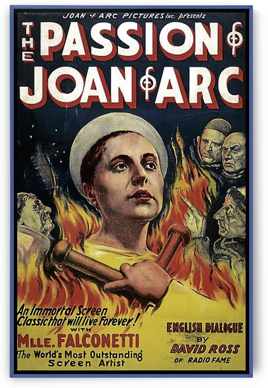 The Passion of Joan of Arc 1928 Ad by VINTAGE POSTER