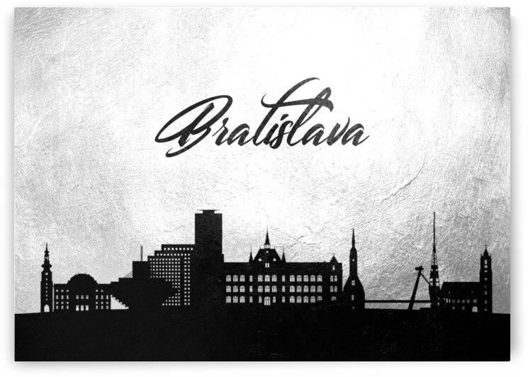 bratislava slovakia charcoal skyline wall art by ABConcepts