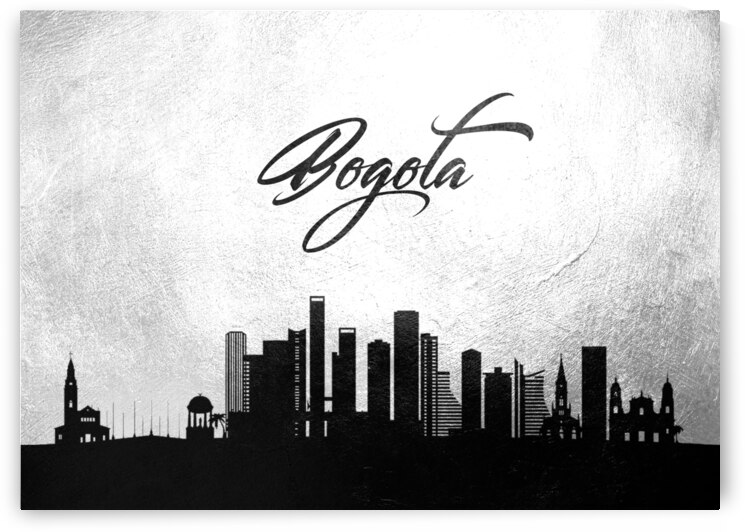bogota colombia charcoal skyline wall art by ABConcepts