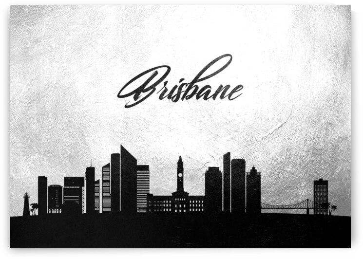 brisbane australia charcoal skyline wall art by ABConcepts