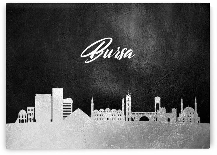 bursa turkey silver skyline wall art by ABConcepts