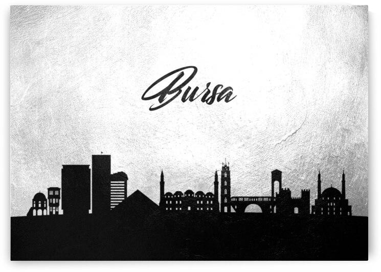 bursa turkey charcoal skyline wall art by ABConcepts