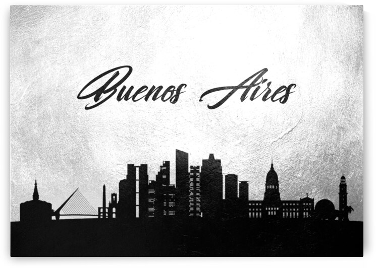 buenos aires argentina charcoal skyline wall art by ABConcepts