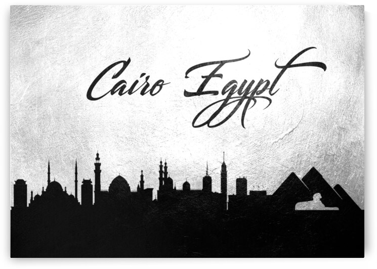 cairo egypt charcoal skyline wall art 2 by ABConcepts