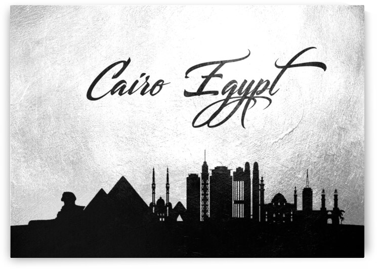 cairo egypt charcoal skyline wall art by ABConcepts