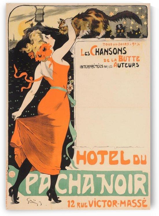 Hotel du Pacha Noir by VINTAGE POSTER