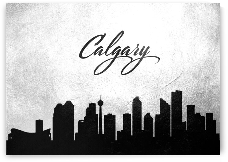 calgary canada charcoal skyline wall art by ABConcepts