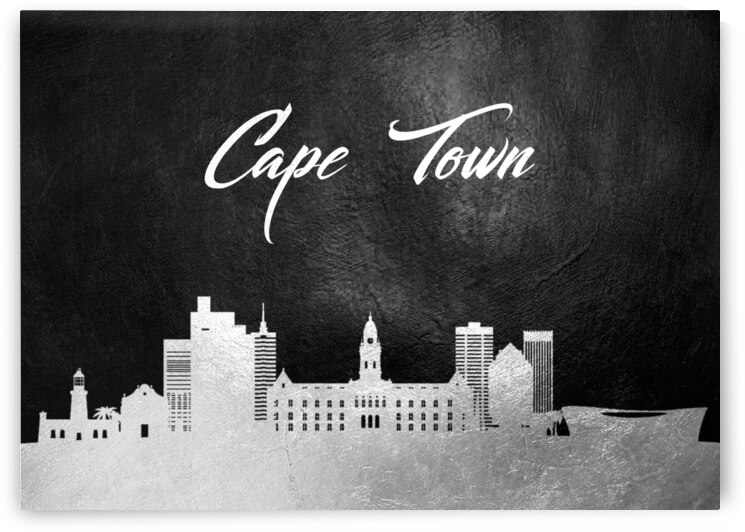 cape town south africa silver skyline wall art by ABConcepts