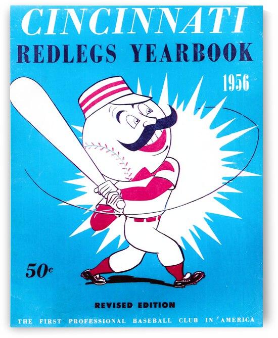 1956 Cincinnati Redlegs Baseball Yearbook Art by Row One Brand