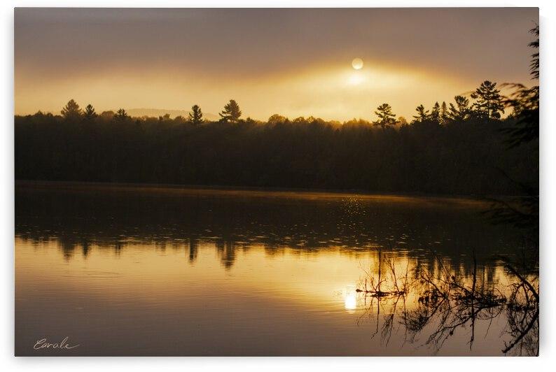 Lever de soleil sur le lac Earhart  2 - Sunrise on Earhart Lake 2 by Pierre Cavale