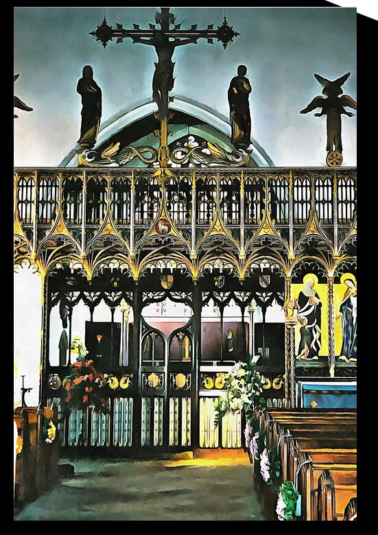 Lound Church Rood Screen 2 by Dorothy Berry-Lound