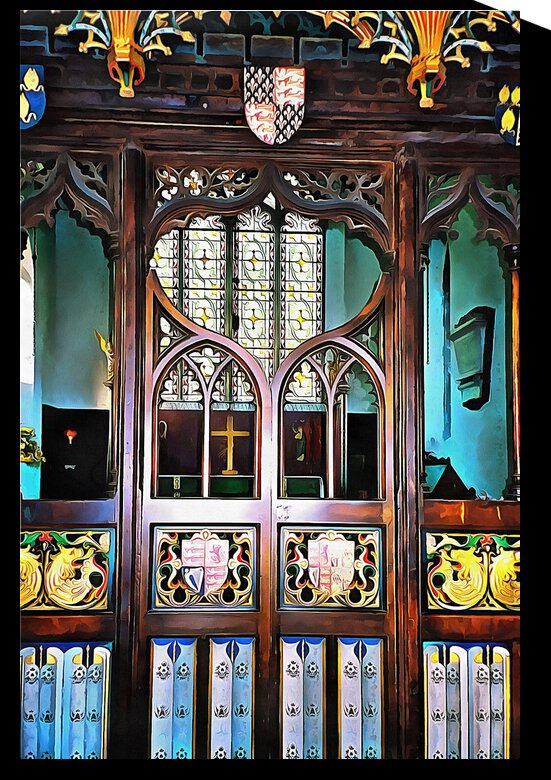 Lound Church Rood Screen 1 by Dorothy Berry-Lound