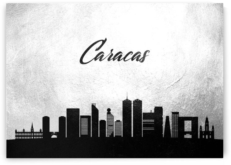 caracas venezuela charcoal skyline wall art by ABConcepts
