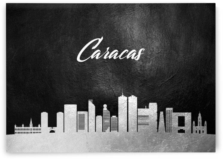 caracas venezuela silver skyline wall art by ABConcepts