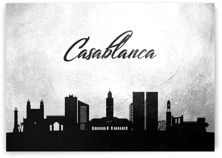 casablanca morocco charcoal skyline wall art by ABConcepts