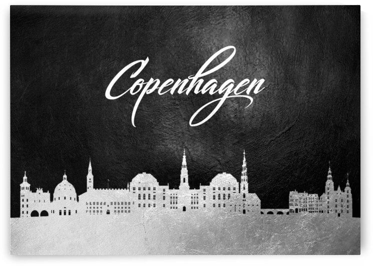 copenhagen denmark silver skyline wall art by ABConcepts