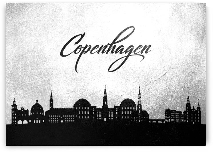 copenhagen denmark charcoal skyline wall art by ABConcepts