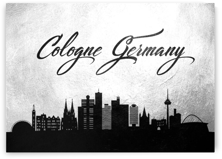 cologne germany charcoal skyline wall art by ABConcepts