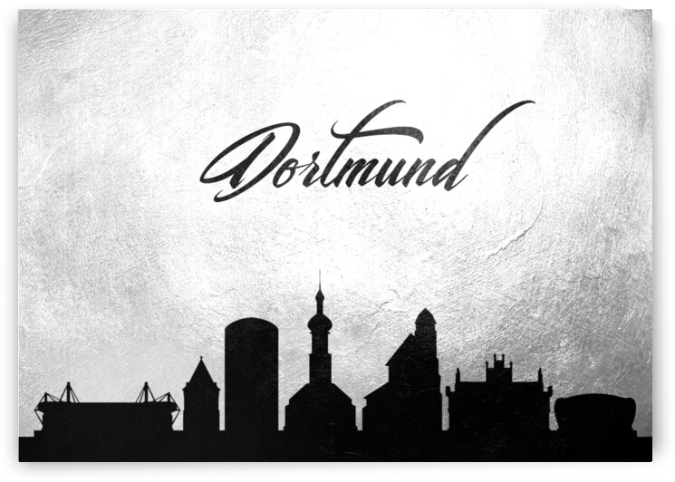 dortmund germany charcoal skyline wall art by ABConcepts