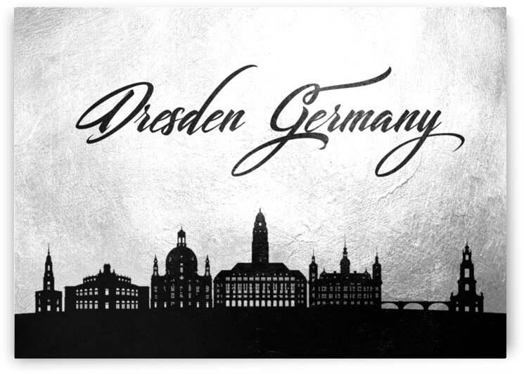 dresden germany charcoal skyline wall art by ABConcepts