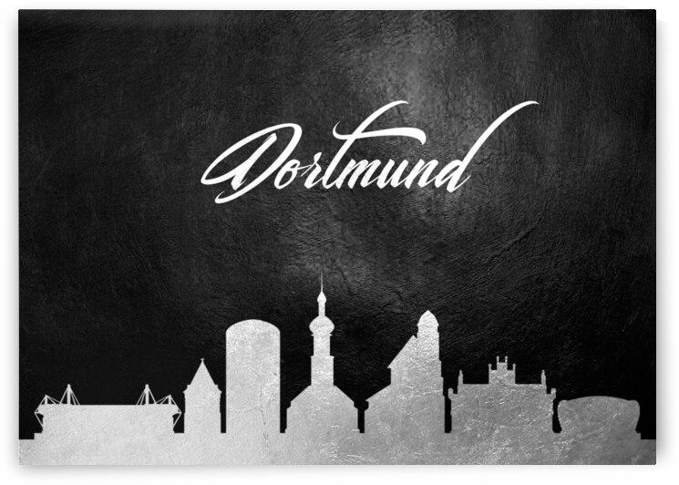 dortmund germany silver skyline wall art by ABConcepts