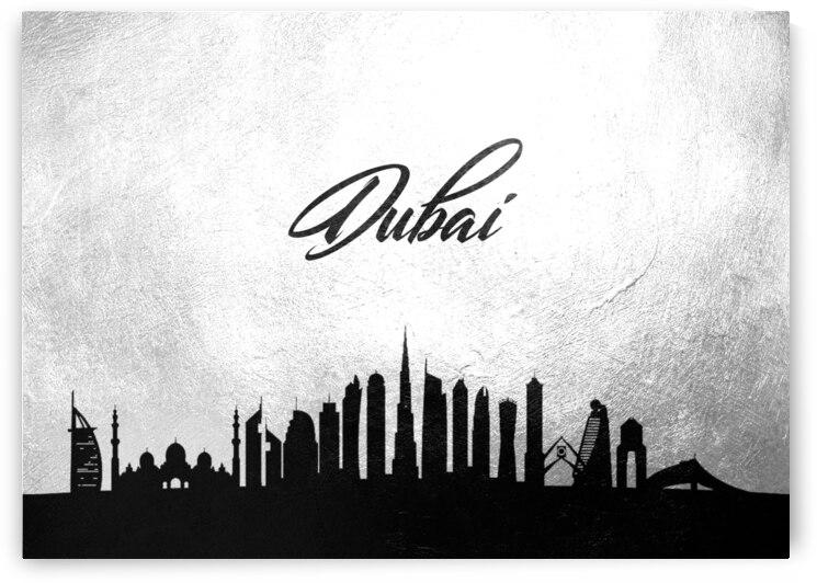 dubai united arab emirates charcoal skyline wall art by ABConcepts