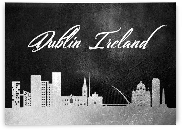 dublin ireland silver skyline wall art by ABConcepts