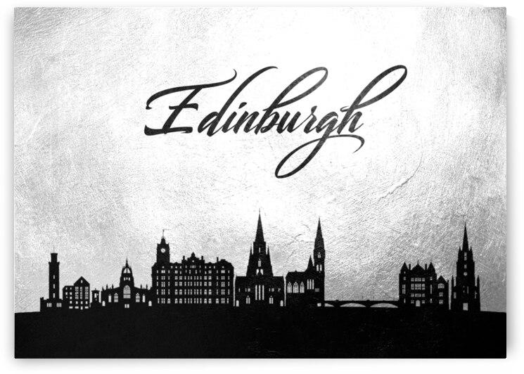 edinburgh scotland charcoal skyline wall art by ABConcepts