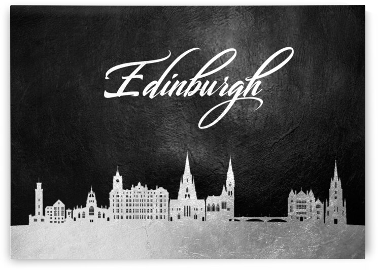 edinburgh scotland silver skyline wall art by ABConcepts
