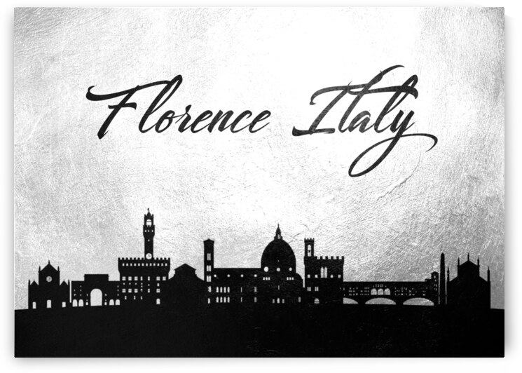 florence italy charcoal skyline wall art by ABConcepts