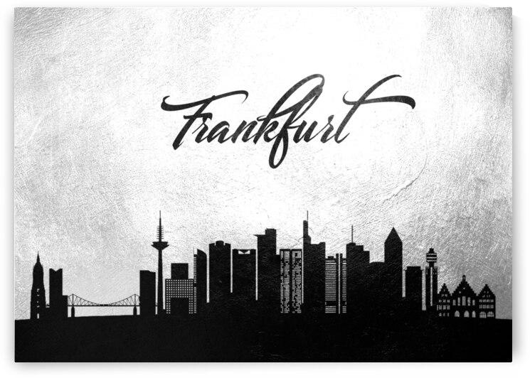 frankfurt germany charcoal skyline wall art by ABConcepts