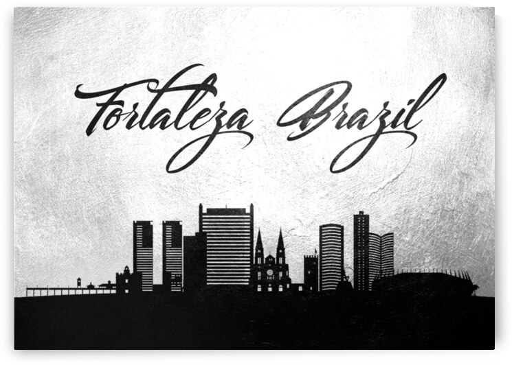 fortaleza brazil charcoal skyline wall art by ABConcepts