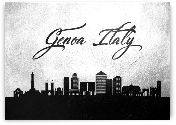 genoa italy charcoal skyline wall art by ABConcepts