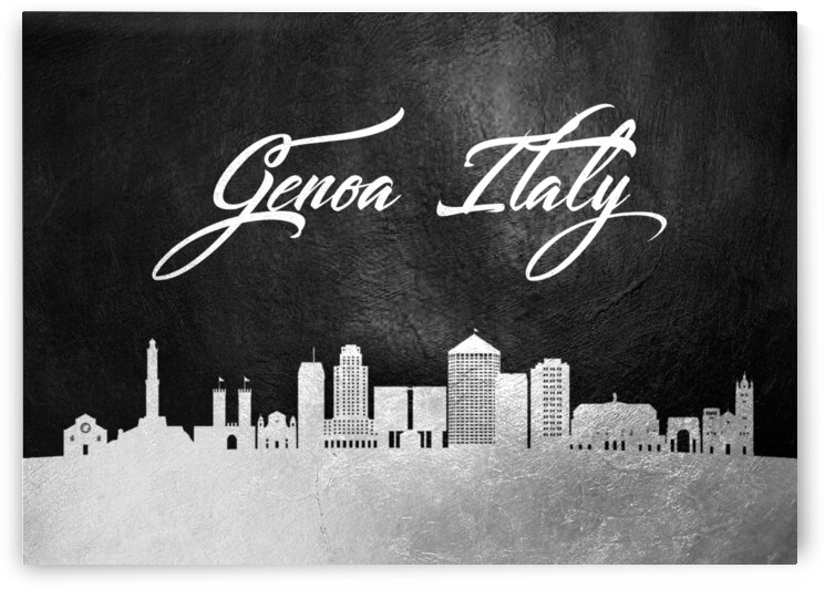 genoa italy silver skyline wall art by ABConcepts