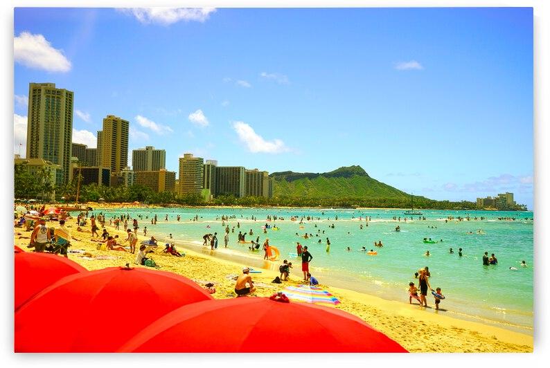 Waikiki Snapshot in Time 1 of 4 by 24